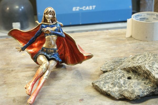 supergirl in bronze wip