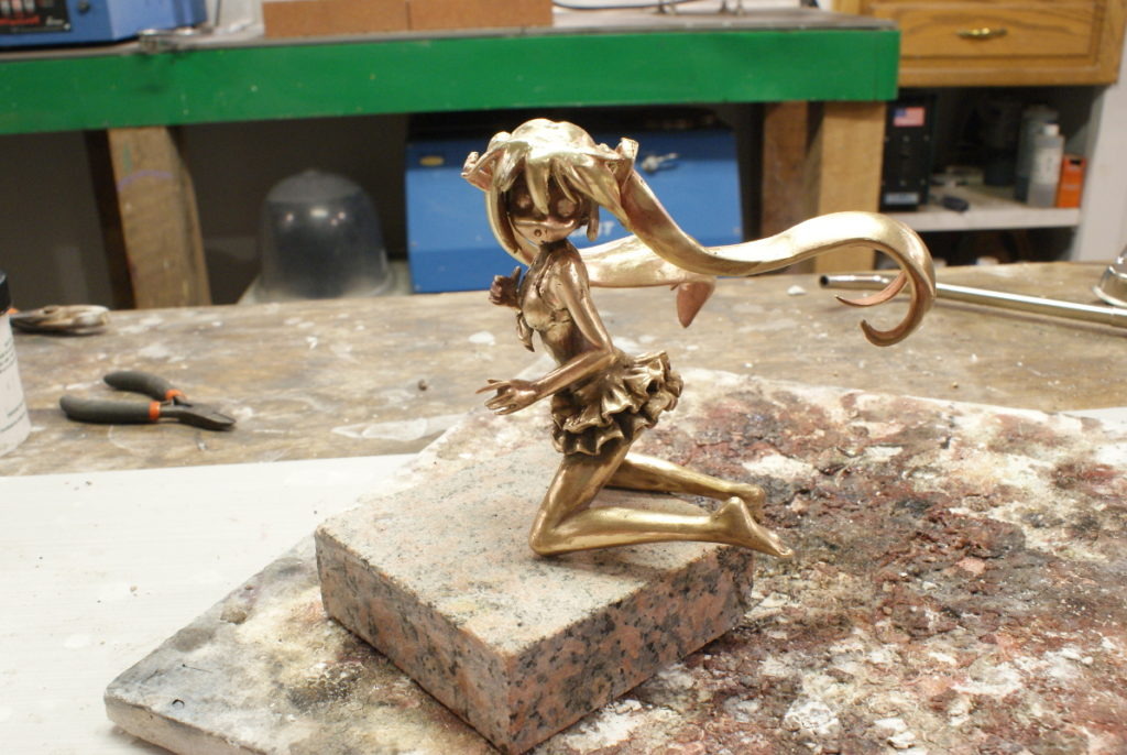 Assembled Bronze Miku