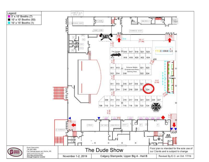 Dude Show 2019 Floorplan